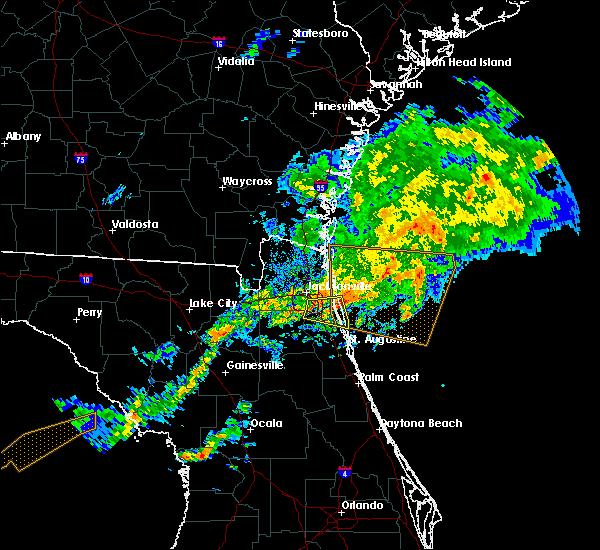 Radar Image for Severe Thunderstorms near Jacksonville, FL at 12/3/2018 10:23 AM EST