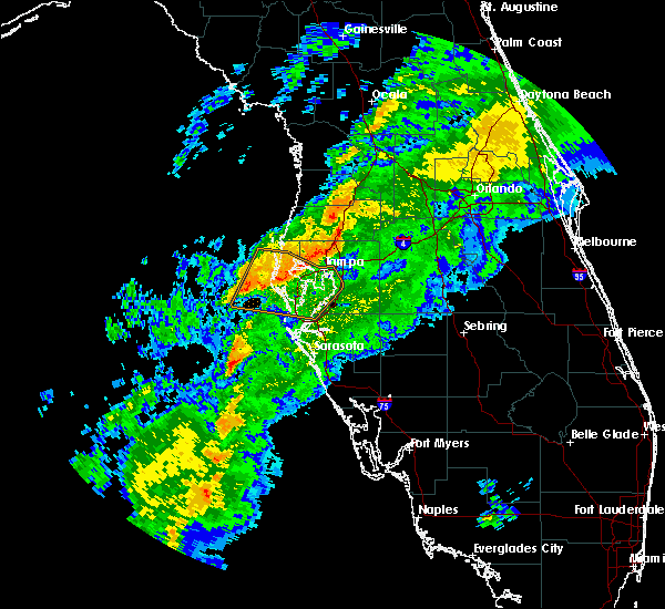 Radar Image for Severe Thunderstorms near St. Leo, FL at 12/9/2018 9:36 AM EST