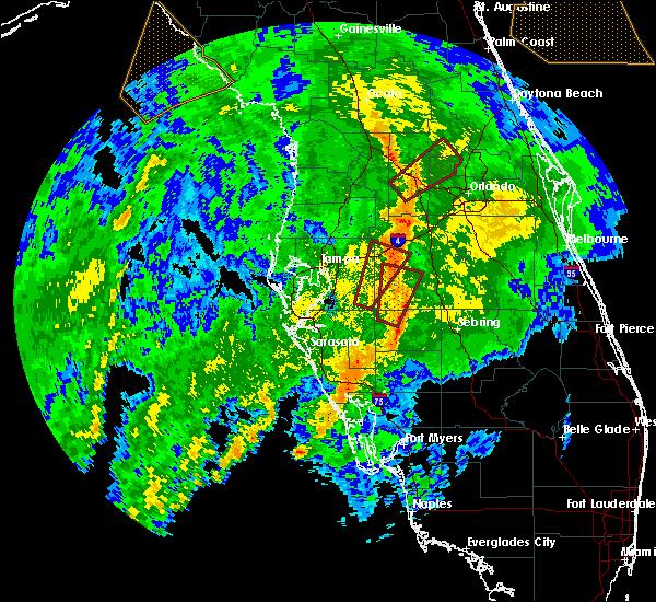 Radar Image for Severe Thunderstorms near Bartow, FL at 12/20/2018 8:34 AM EST