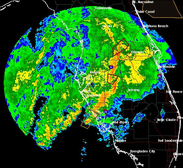 Radar Image for Severe Thunderstorms near Bartow, FL at 12/20/2018 8:43 AM EST