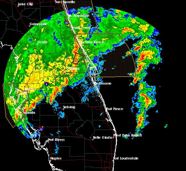 Radar Image for Severe Thunderstorms near Black Hammock, FL at 12/20/2018 10:50 AM EST