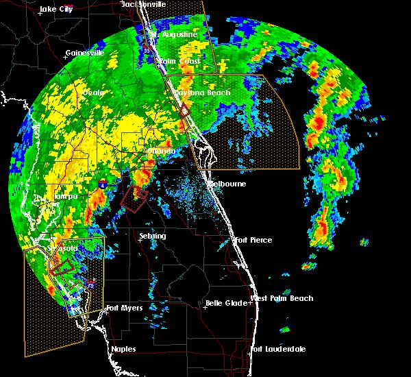 Radar Image for Severe Thunderstorms near Oak Hill, FL at 12/20/2018 11:30 AM EST