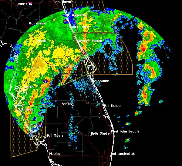Radar Image for Severe Thunderstorms near Oak Hill, FL at 12/20/2018 11:42 AM EST