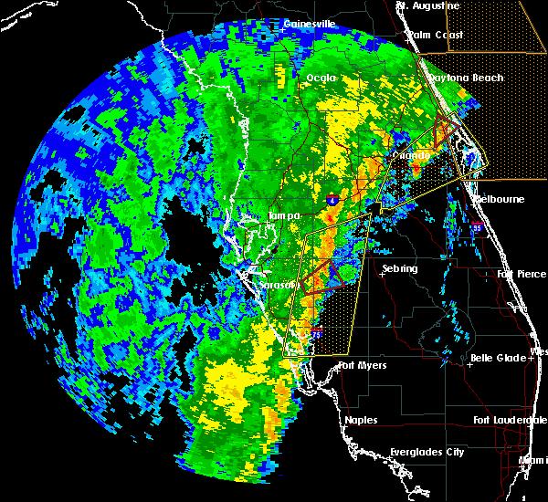 Radar Image for Severe Thunderstorms near Fort Green, FL at 12/20/2018 12:21 PM EST