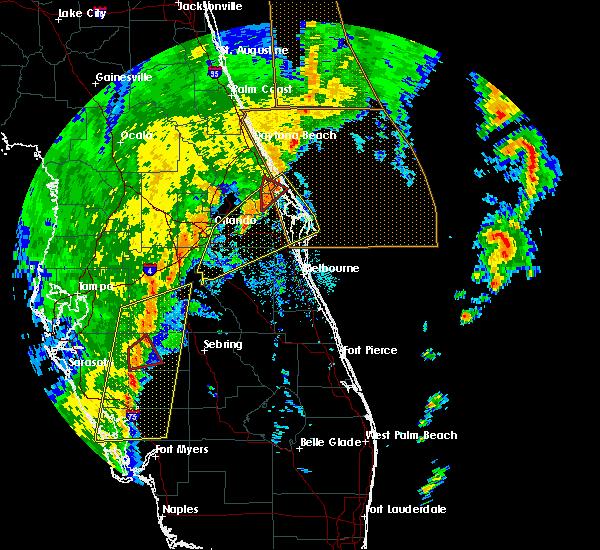 Radar Image for Severe Thunderstorms near Oak Hill, FL at 12/20/2018 12:28 PM EST