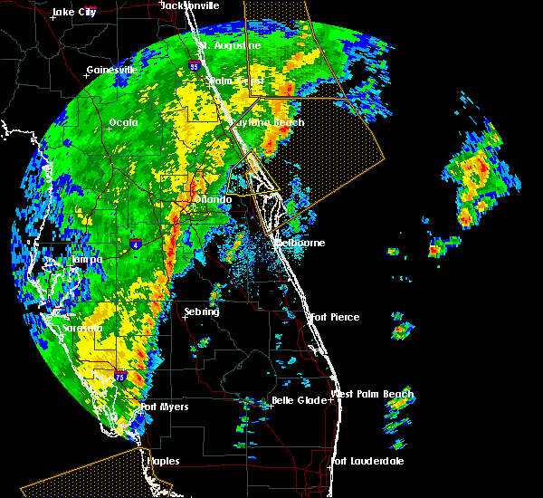 Radar Image for Severe Thunderstorms near Azalea Park, FL at 12/20/2018 1:01 PM EST