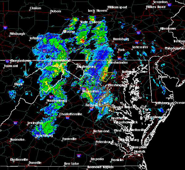 Radar Image for Severe Thunderstorms near Vienna, VA at 12/21/2018 4:04 PM EST