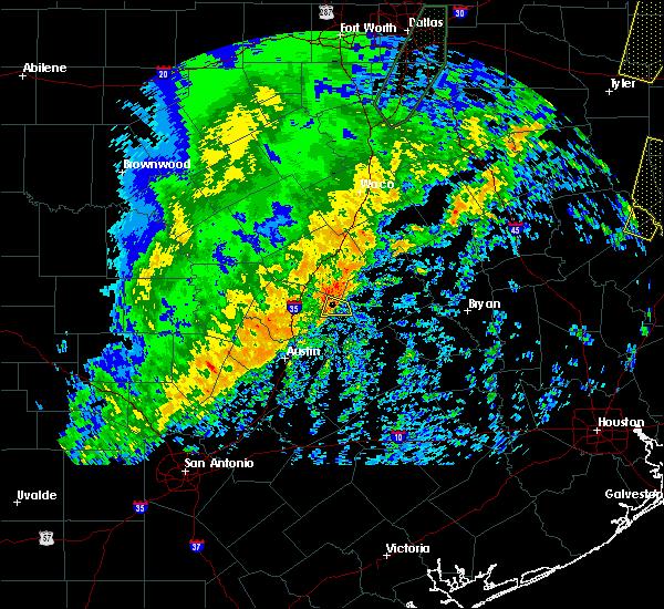 Radar Image for Severe Thunderstorms near Granger, TX at 12/26/2018 10:28 PM CST