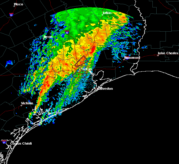 Radar Image for Severe Thunderstorms near Pasadena, TX at 12/27/2018 4:45 AM CST