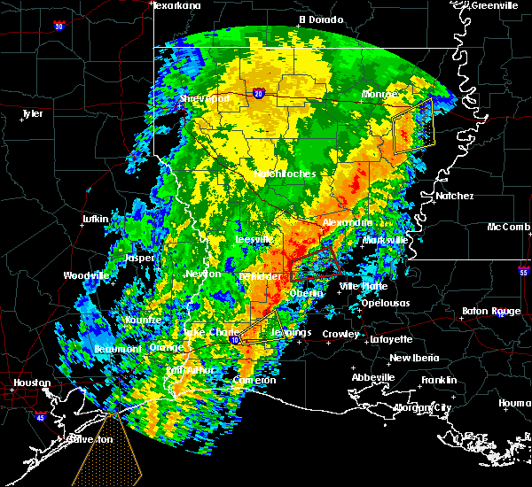 Radar Image for Severe Thunderstorms near Oberlin, LA at 12/27/2018 8:46 AM CST