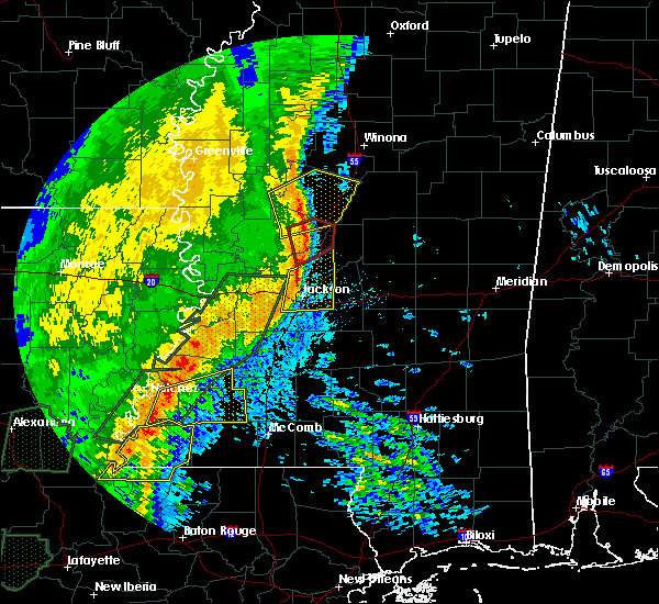 Radar Image for Severe Thunderstorms near Brandon, MS at 12/27/2018 10:56 AM CST