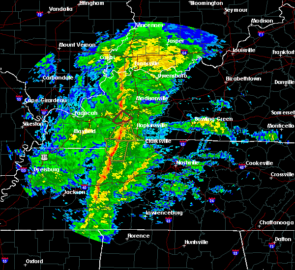 Radar Image for Severe Thunderstorms near Clarksville, TN at 12/31/2018 12:54 PM CST