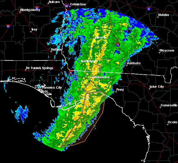 Radar Image for Severe Thunderstorms near Tallahassee, FL at 1/4/2019 8:51 AM EST