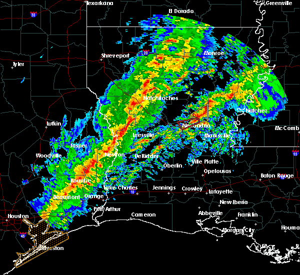 Radar Image for Severe Thunderstorms near Sicily Island, LA at 1/19/2019 3:50 AM CST