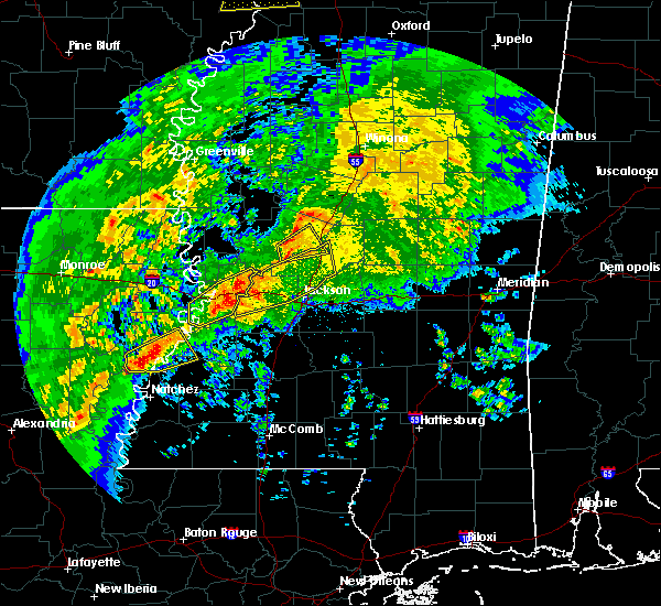 Radar Image for Severe Thunderstorms near Beechwood, MS at 1/19/2019 5:09 AM CST