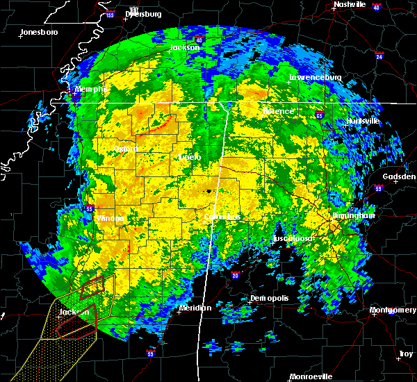 Radar Image for Severe Thunderstorms near Sturgis, MS at 1/19/2019 7:43 AM CST