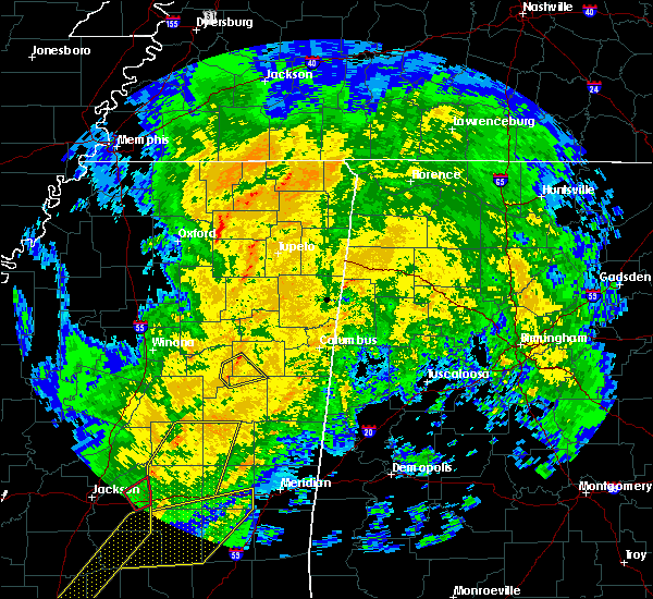 Radar Image for Severe Thunderstorms near Sturgis, MS at 1/19/2019 8:08 AM CST