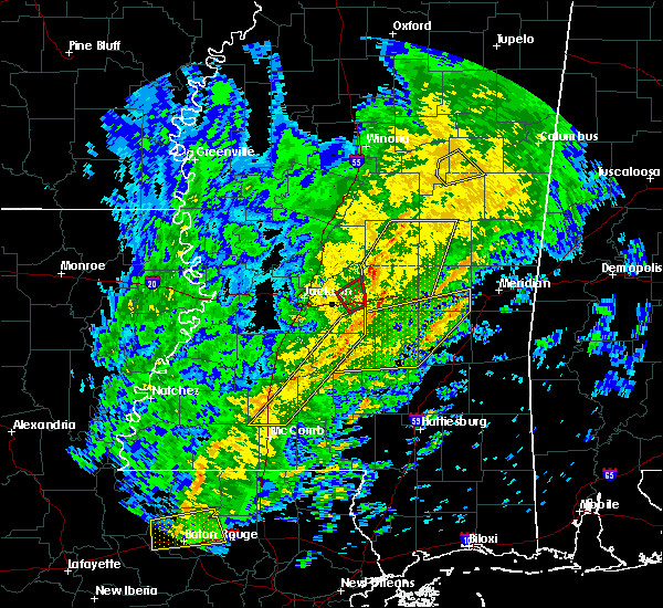Radar Image for Severe Thunderstorms near Pearl River, MS at 1/19/2019 8:14 AM CST