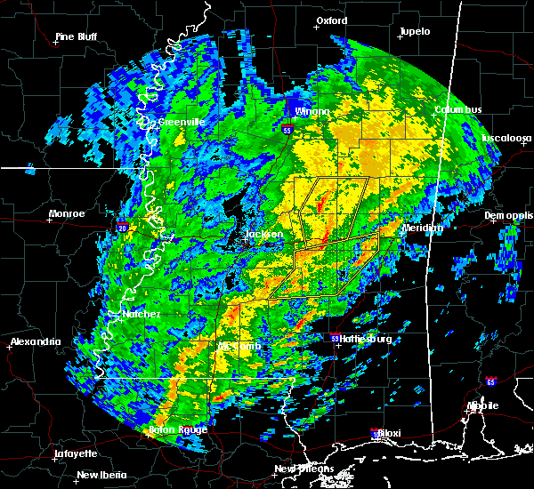 Radar Image for Severe Thunderstorms near Pearl River, MS at 1/19/2019 8:29 AM CST