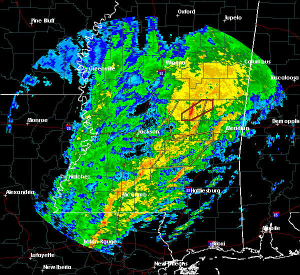 Radar Image for Severe Thunderstorms near Pearl River, MS at 1/19/2019 8:38 AM CST