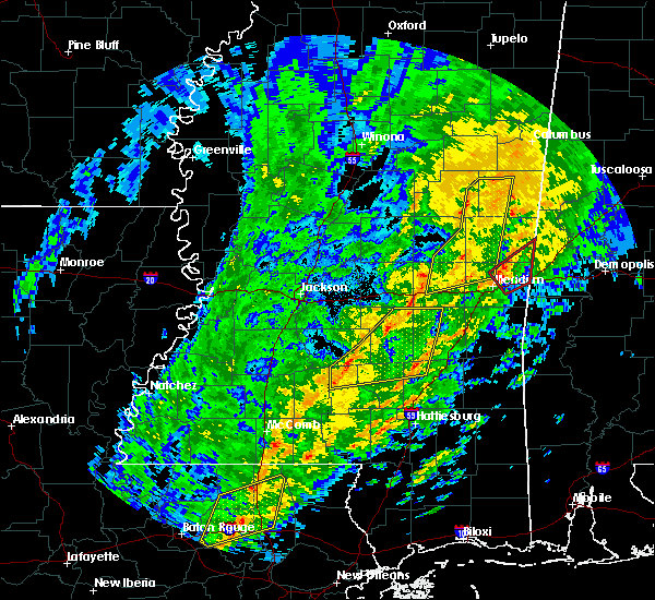 Radar Image for Severe Thunderstorms near Newton, MS at 1/19/2019 9:06 AM CST