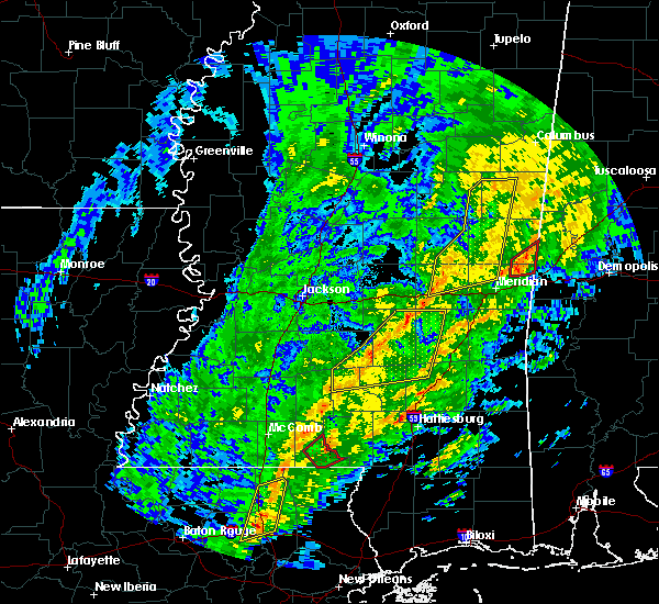 Radar Image for Severe Thunderstorms near Lauderdale, MS at 1/19/2019 9:15 AM CST