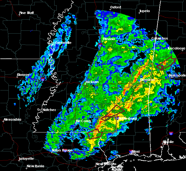 Radar Image for Severe Thunderstorms near Lauderdale, MS at 1/19/2019 10:00 AM CST