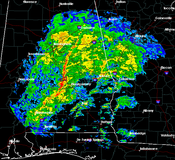 Radar Image for Severe Thunderstorms near Hissop, AL at 1/19/2019 2:32 PM CST