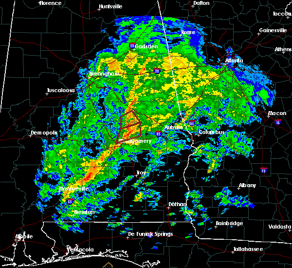 Radar Image for Severe Thunderstorms near Tallassee, AL at 1/19/2019 3:08 PM CST
