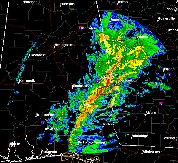 Radar Image for Severe Thunderstorms near Columbus, GA at 1/19/2019 5:57 PM EST