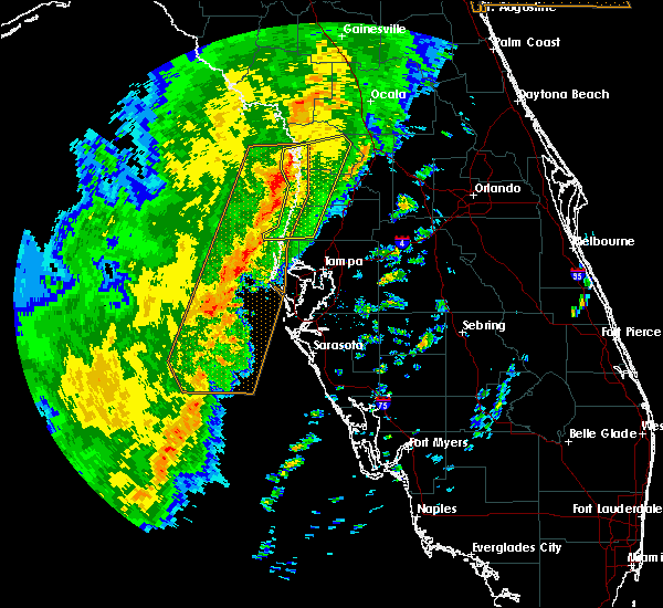 Radar Image for Severe Thunderstorms near Floral City, FL at 1/24/2019 4:25 AM EST