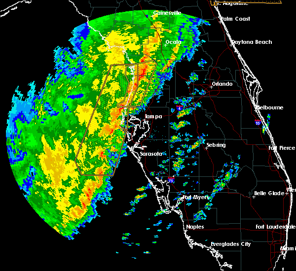 Radar Image for Severe Thunderstorms near Tarpon Springs, FL at 1/24/2019 4:43 AM EST