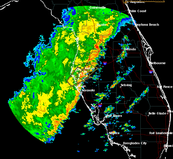 Radar Image for Severe Thunderstorms near Tampa, FL at 1/24/2019 5:27 AM EST