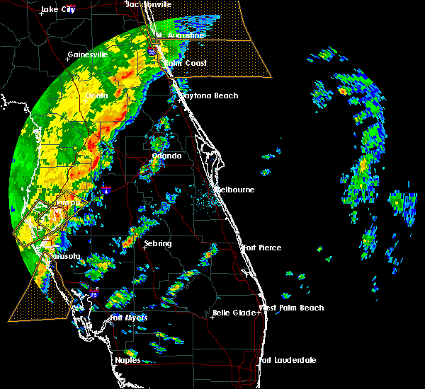 Radar Image for Severe Thunderstorms near Sorrento, FL at 1/24/2019 5:37 AM EST