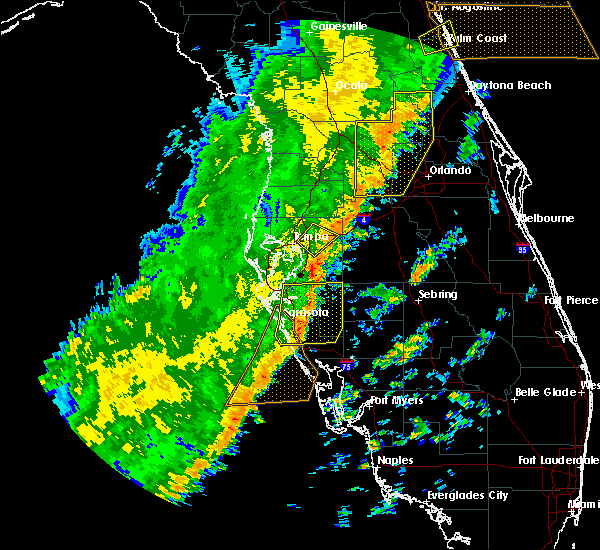 Radar Image for Severe Thunderstorms near Brandon, FL at 1/24/2019 5:58 AM EST