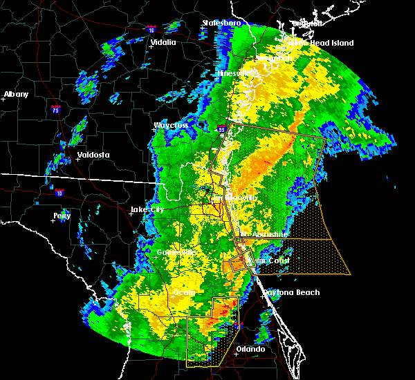 Radar Image for Severe Thunderstorms near Flagler Estates, FL at 1/24/2019 5:58 AM EST