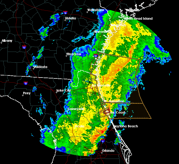 Radar Image for Severe Thunderstorms near Palm Coast, FL at 1/24/2019 6:07 AM EST