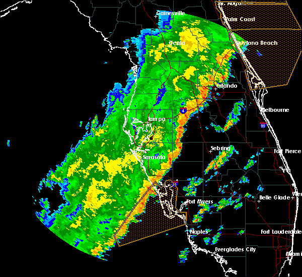 Radar Image for Severe Thunderstorms near Arcadia, FL at 1/24/2019 6:34 AM EST