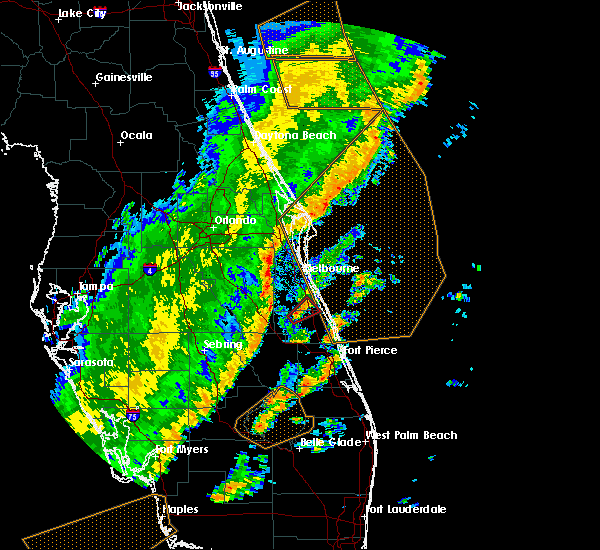Radar Image for Severe Thunderstorms near Palm Bay, FL at 1/24/2019 8:07 AM EST