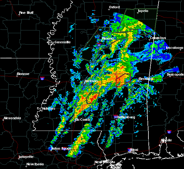 Radar Image for Severe Thunderstorms near Newton, MS at 2/20/2019 8:57 AM CST
