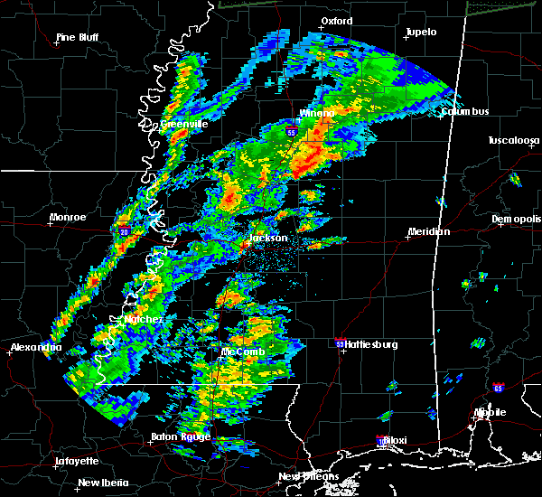 Radar Image for Severe Thunderstorms near Sallis, MS at 2/23/2019 3:31 PM CST