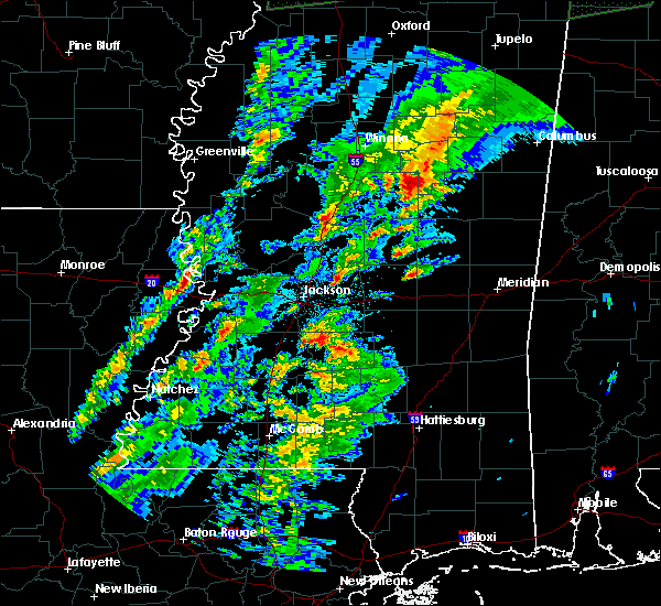 Radar Image for Severe Thunderstorms near Flowood, MS at 2/23/2019 3:58 PM CST