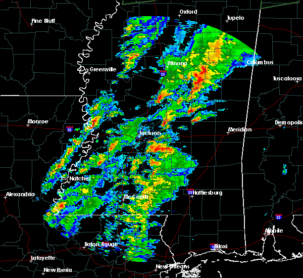 Radar Image for Severe Thunderstorms near Utica, MS at 2/23/2019 4:14 PM CST