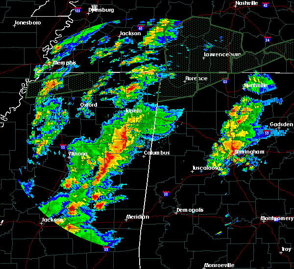 Radar Image for Severe Thunderstorms near Aberdeen, MS at 2/23/2019 4:23 PM CST