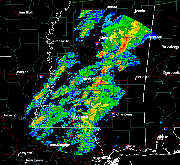 Radar Image for Severe Thunderstorms near Pearl River, MS at 2/23/2019 4:23 PM CST