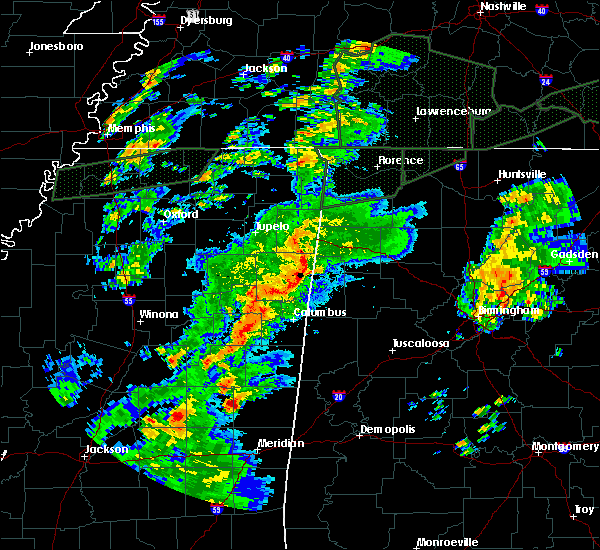 Radar Image for Severe Thunderstorms near Mississippi State, MS at 2/23/2019 4:45 PM CST
