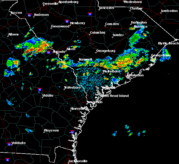 Radar Image for Severe Thunderstorms near Summerville, SC at 6/9/2015 3:18 PM EDT