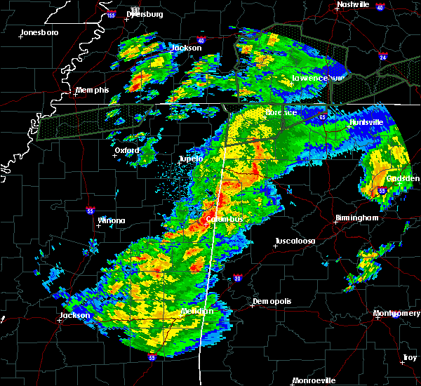 Radar Image for Severe Thunderstorms near Vernon, AL at 2/23/2019 5:30 PM CST