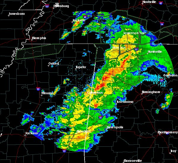 Radar Image for Severe Thunderstorms near Fayette, AL at 2/23/2019 6:07 PM CST