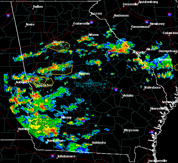 Radar Image for Severe Thunderstorms near Camak, GA at 6/9/2015 3:25 PM EDT